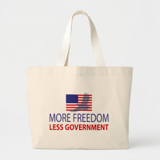 More Freedom Less Government Canvas Bags