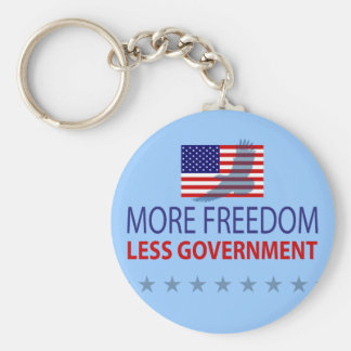 More Freedom Less Government Keychain