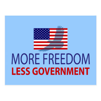 More Freedom Less Government Postcard