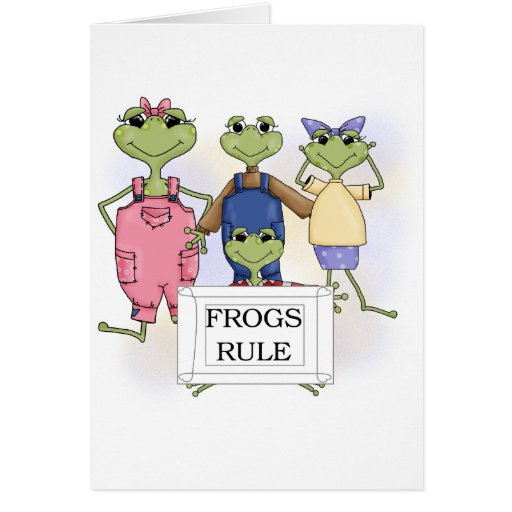 More Frogs Rule Tshirts and Gifts Greeting Card