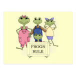 More Frogs Rule Tshirts and Gifts Post Cards