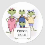 More Frogs Rule Tshirts and Gifts Sticker