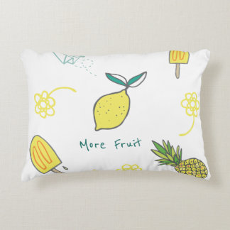 More Fruit Including Lemons and Pineapples Accent Pillow
