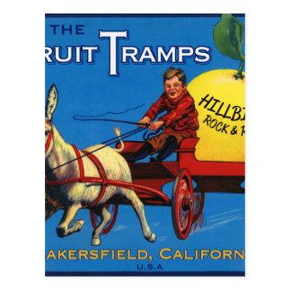 More Fruit Tramp Fun Postcard