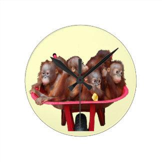 More Fun Than a Barrel of Monkeys Wall Clock