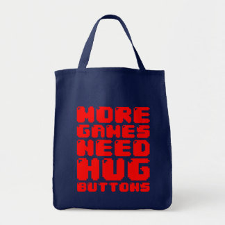 MORE GAMES NEED HUG BUTTONS BAG