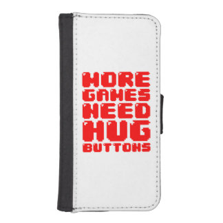 MORE GAMES NEED HUG BUTTONS iPhone SE/5/5s WALLET
