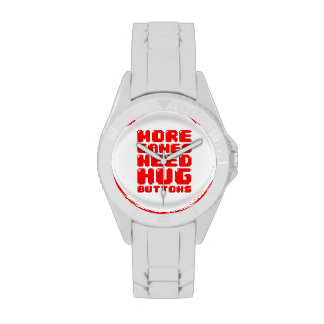 MORE GAMES NEED HUG BUTTONS WRISTWATCH
