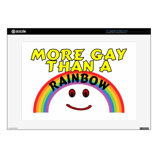 More Gay Than A Rainbow Laptop Decal