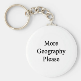 More Geography Please Keychain