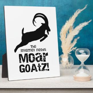 More Goatz 2 Plaque