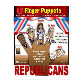 More GOP Finger Puppets Postcard