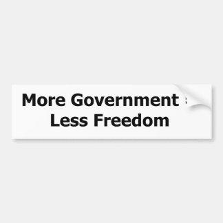 More Government = Less Freedom Bumper Sticker