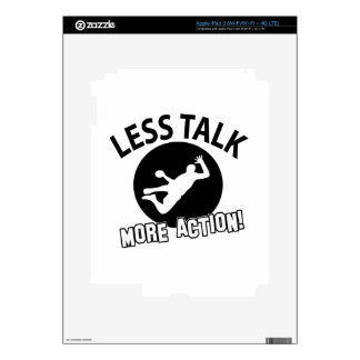 More Hand Ball  less talk iPad 3 Decals
