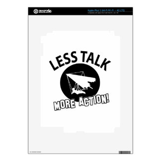 More Hang Gliding  less talk Decal For iPad 3