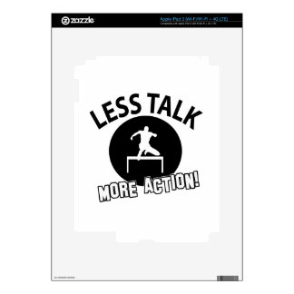 More Hurdling less talk Decal For iPad 3