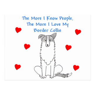 More I Know People Border Collie Postcard