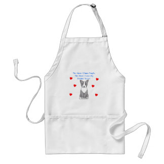More I Know People Boston Terrier Adult Apron