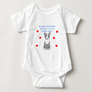 More I Know People Boston Terrier Baby Bodysuit