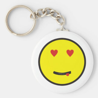 more in love smilie with love keychain
