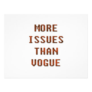 More issues than Vogue Flyer