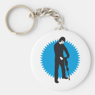 more jackhammer more worker keychain