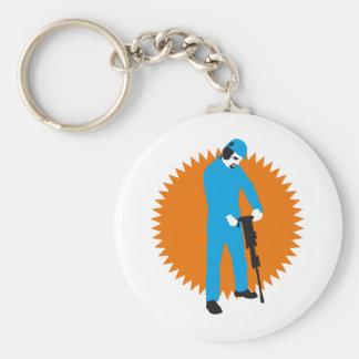 more jackhammer more worker keychain