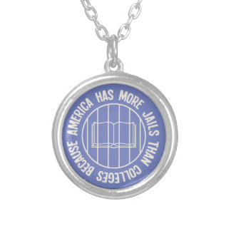 More Jails Silver Plated Necklace