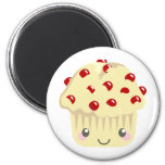 More Kawaii Muffin Faces 2 Inch Round Magnet
