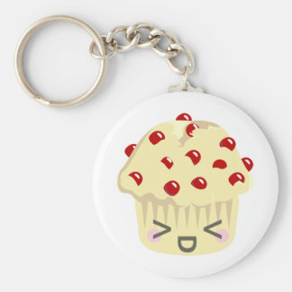 More Kawaii Muffin Faces Keychain