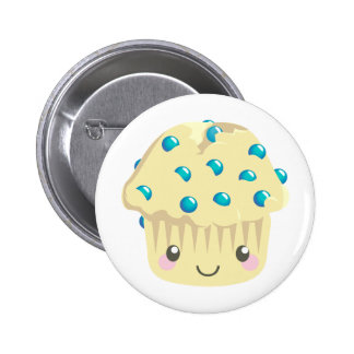 More Kawaii Muffin Faces Pinback Button