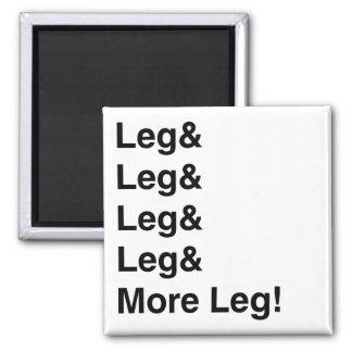 More Leg! 2 Inch Square Magnet