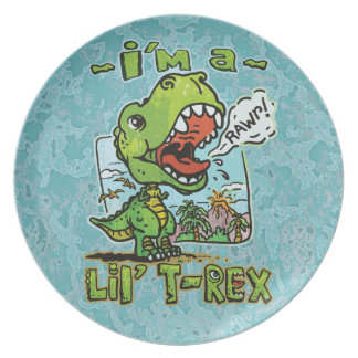More Lil' T Rex Party Plate
