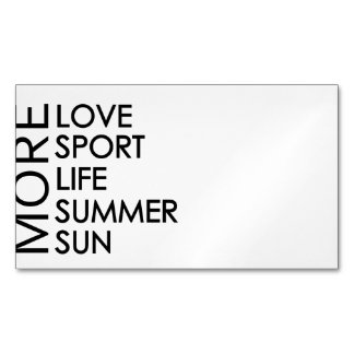 More love and sun business card magnet