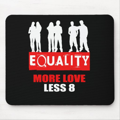 MORE LOVE LESS 8 MOUSE PAD