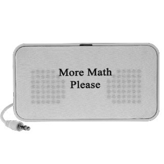 More Math Please Travel Speakers