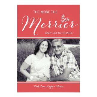More Merrier   Pregnancy Announcement   Christmas