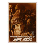 More Metal - Army Is Counting On You Poster