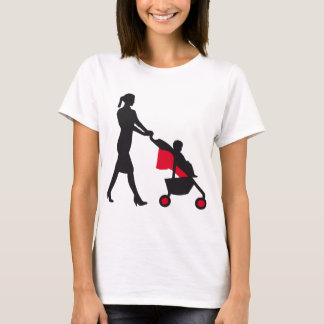 more mother woman with baby in barrow T-Shirt