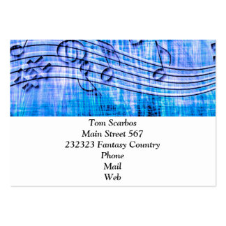 more music blue business card templates