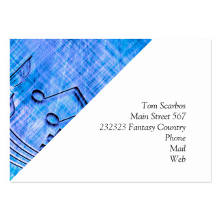more music blue business card