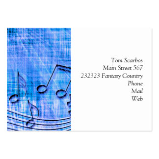 more music blue business card template