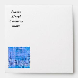 more music blue envelope