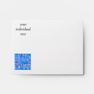 more music blue envelopes