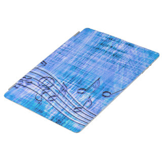 more music blue iPad cover