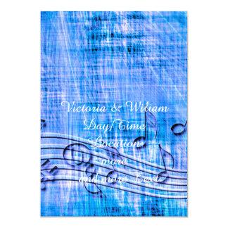 more music blue custom invitation