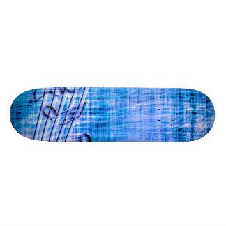 more music blue skate board deck