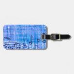 More Music,blue Travel Bag Tag