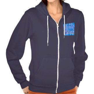 more music blue hooded sweatshirts