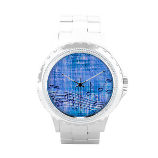 more music blue wrist watches